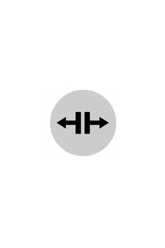 218311 M22-XDL-W-X13 Lente de botón, blanco plano, símbolo resolver