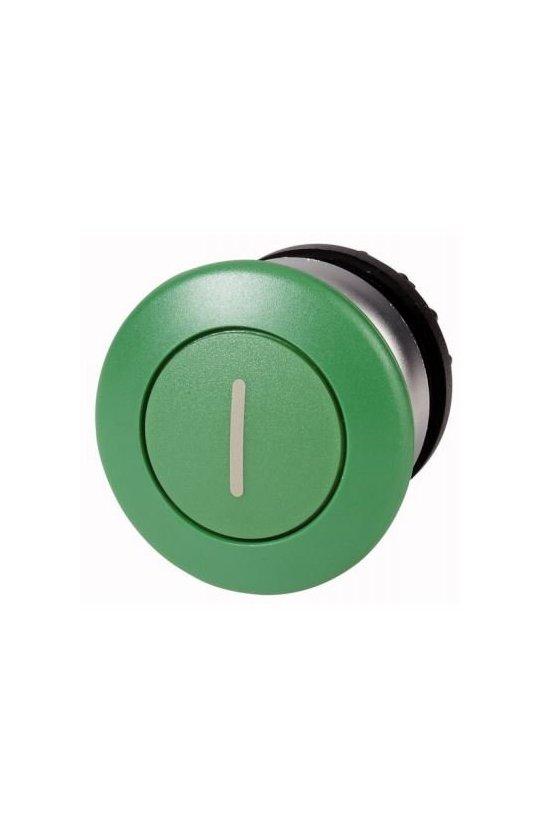 216722 M22-DP-G-X1 Actuador de hongo, verde I, momentáneo