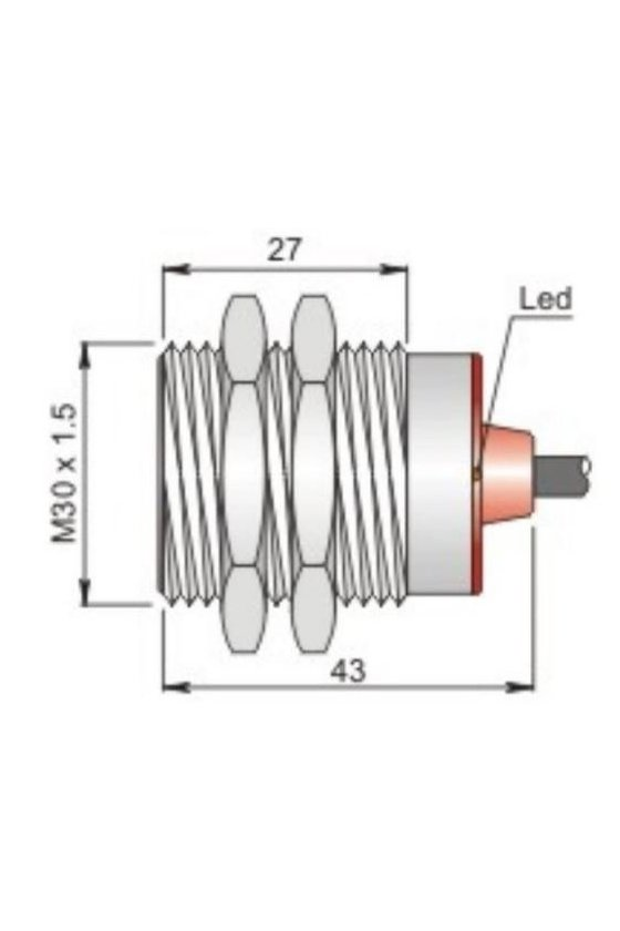 SI30SM-DC15 PNP NOS (I30000450) SENSOR DE PROX.30MM DIAM.SENSA 15MM 10-30VDC