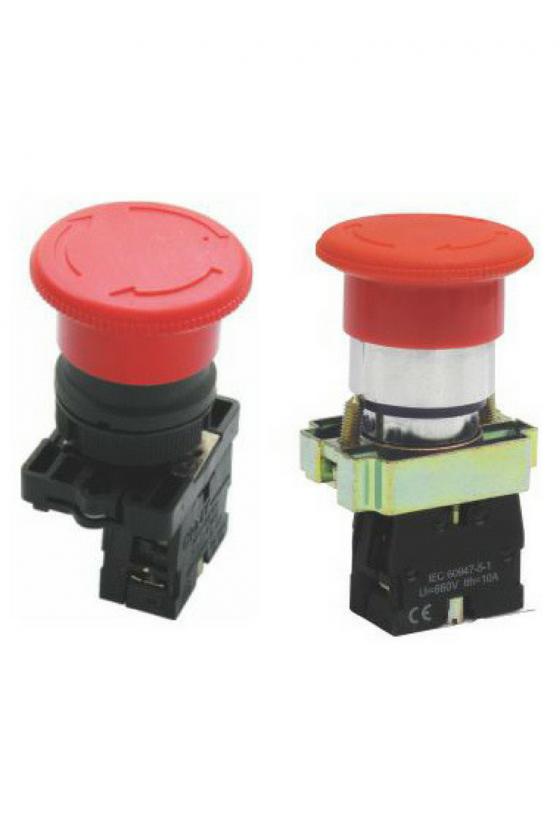 SLMFN2R4 Botón Pul Retención 40mm Verde