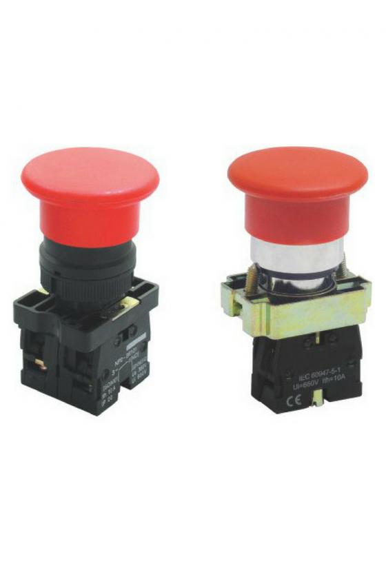 SLPFN1M4 Botón Pul Tipo Hongo 40mm Rojo