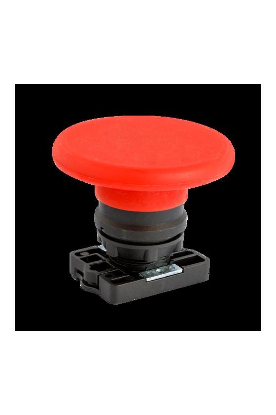 SLPFN1M6 Botón Pul Tipo Hongo 60mm Rojo