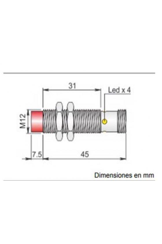 SI12SM CE4 PNP NO H S SENSOR INDUCTIVO DE PROXIMIDAD