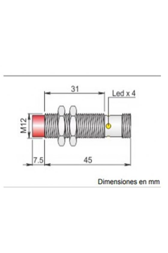 SI12SM CE4 NPN NO H S SENSOR INDUCTIVO DE PROXIMIDAD