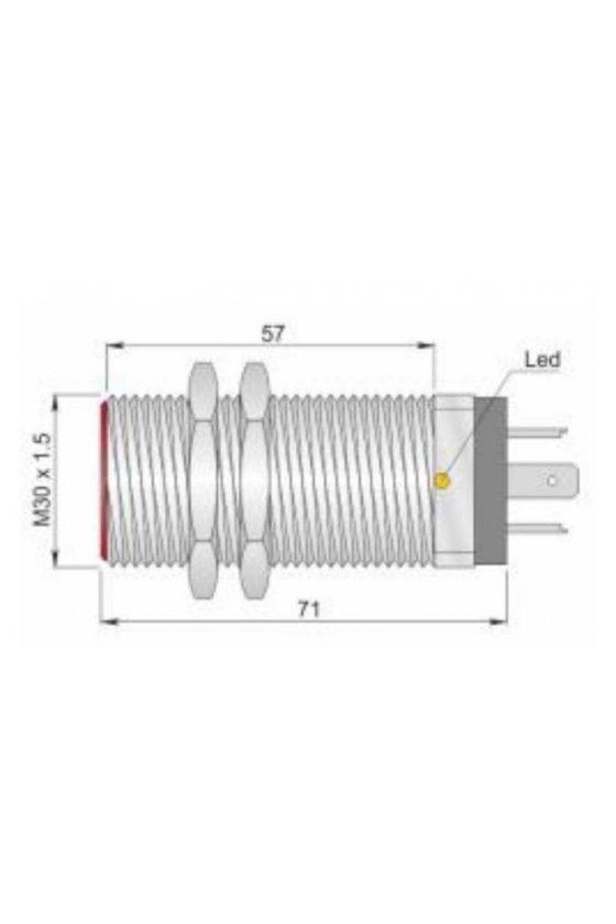 SI30C10 PNP NO K (I30000054) SENSOR DE PROX30MM DIAM SENSA 10MM 10-30VCD
