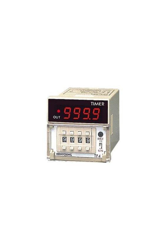 TF4AUAR Timer 48x48mm 999.9sec-999sec  up display 8 Pin 100-240vca salida a Relay