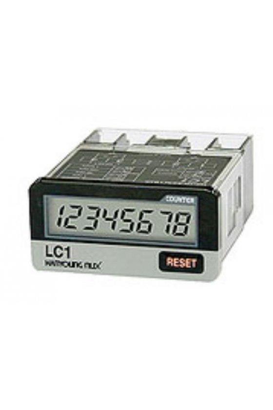 LC1F Contador Totalizador 8 dígitos  LCD con voltaje 24-240vca  -  6-240vcd  20 CPS 48x24mm reset frontal o remoto
