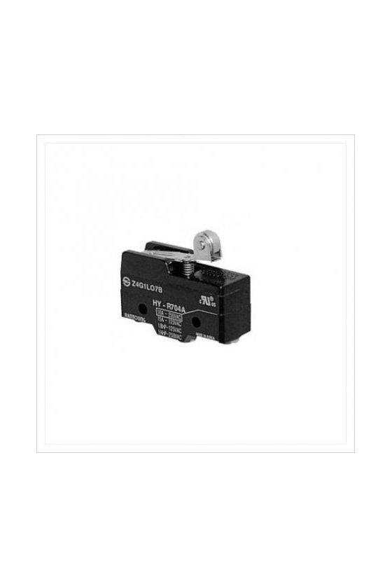 HYR7042W Micro Switch  de 2 posiciones en la palanca de rodillo  1NA + 1 NC 10amp 250vca
