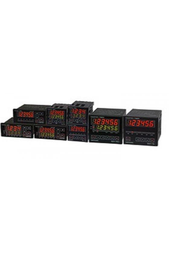 GE6P62A Contador 2 predeterminados con Batch de 72x36mm 6 dígitos 100-240vca input NPN-PNP salida Relay 2NA + 2NC 3A 240vca
