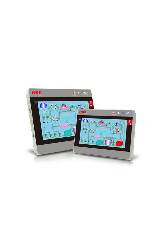 HT3000-H7W Pantalla hmi 7 in 1024x600, 4g + 512m + sd,1 lan (ethernet port), 2 usb, 3 com, wifi available