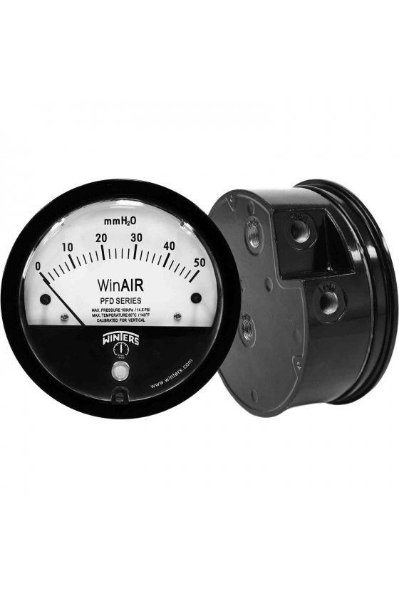 """PFD40029 manómetro para presión diferencial caratula de 4"""" rango 0-100"""" h2o"""