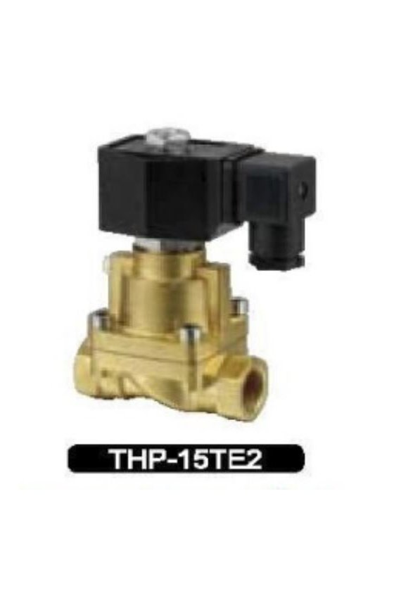 THP-10 -E2- T-15L-F VALVULA SOLENOIDE 3/8 ASIENTOS TEFLON 220VAC 185Grados C PARA VAPOR 05-10KG