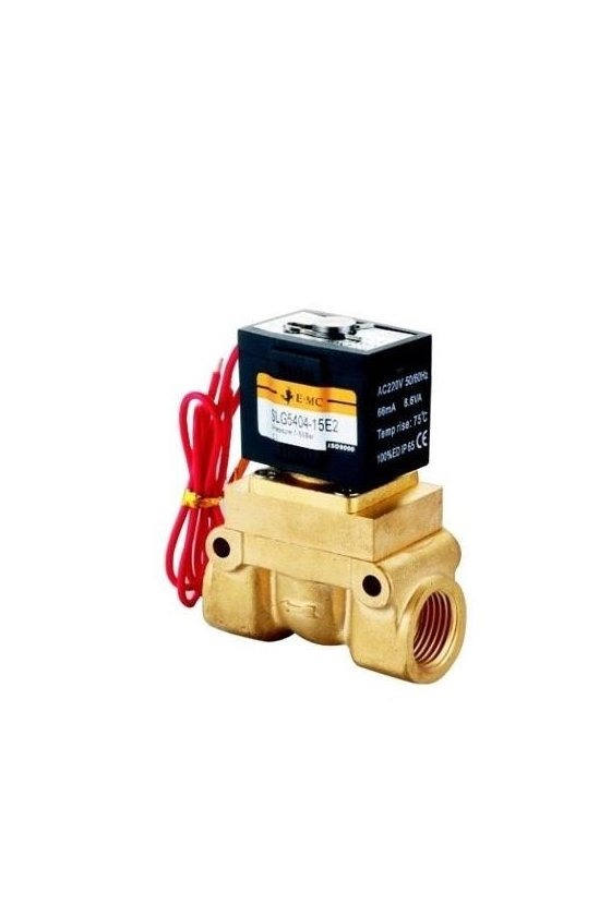 SLG5404-20-E1-D VALVULA SOLENOIDE 3/4 ASIENTOS PTFE 110VAC 1-25KG 150Grados C CONECTOR DIN
