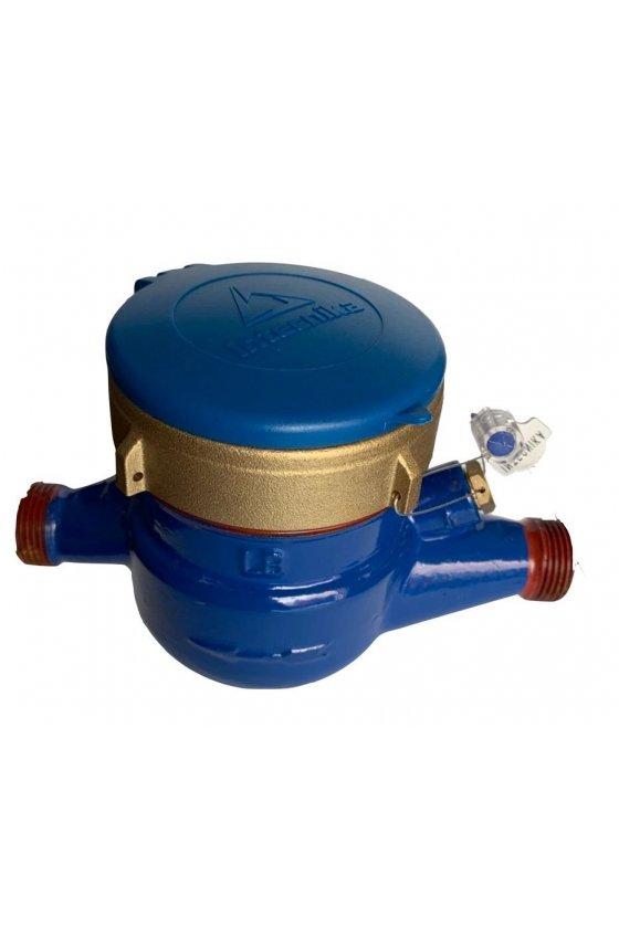 MCB-020 Medidor de agua 3/4 in temp 40c cpo bronce ext rosc npt pres max16 bar predis lect remot valv check