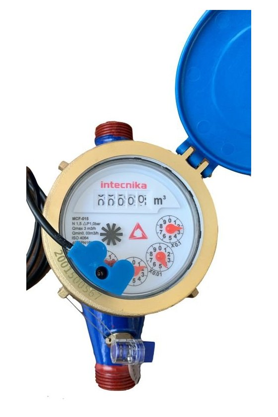 MCB-025 Medidor de agua 1 in temp 40c cpo bronce ext rosc npt pres max16 bar predis lect remot valv check