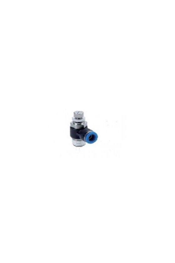 ESC06-01P-A VALVULA TUBO 6MM ROSCA 1/8