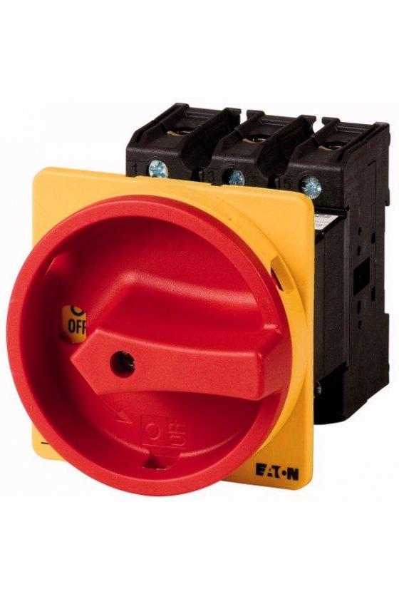 88558 Interruptor principal, P3, 100 A, montaje posterior, 3 polos, función de apagado de emergencia  - P3-100/V/SVB