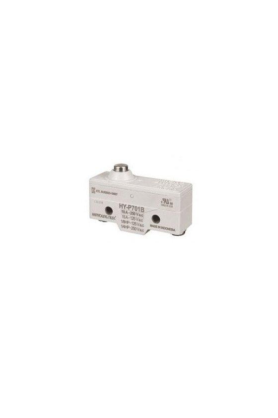 Micro switch básico con botón ancho 1NA + 1NC 10amp 250vca HY-P701B