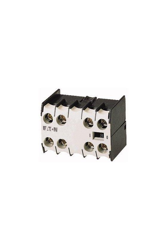 22DILEM Módulo de contactos auxiliares, 4 polos, 2 N / A, 2 NC, Fijación frontal, Terminales de tornillo, DILE (E) M 010112