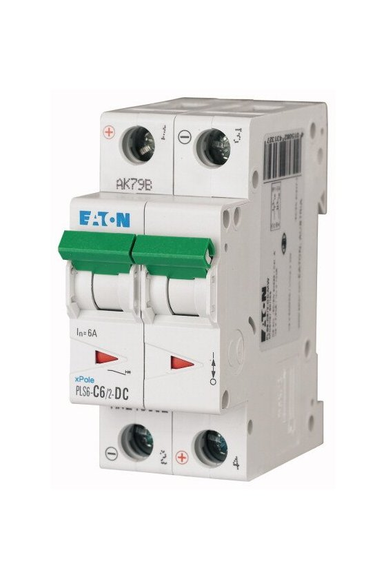 PLS6-C6/2-DC-MW, Disyuntor miniatura (MCB) 6A 2p, característica: C DC 243132