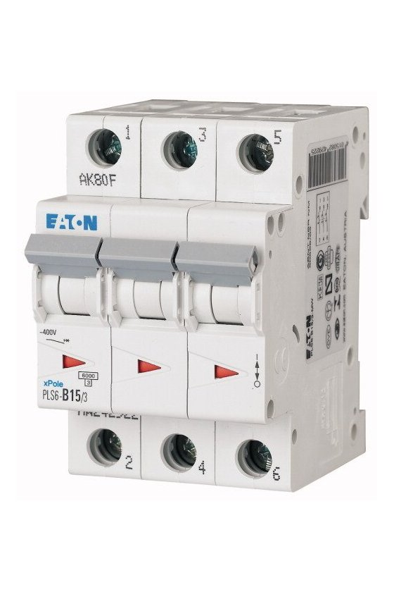 PLS6-C15/3-MW, Disyuntor miniatura (MCB) 15A 3p, característica: C 242948