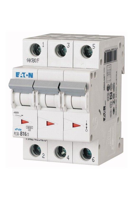 PLS6-B16/3MW, Disyuntor miniatura (MCB) 16A 3p, característica: B 242923